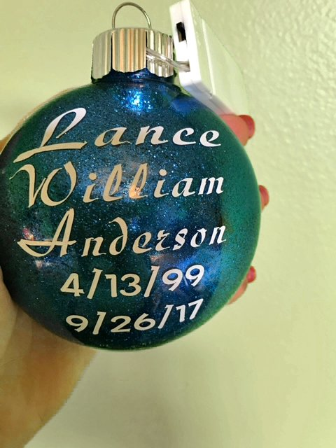 christmas ornament blue